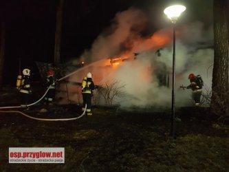 Pożar na Polance w Sulejowie