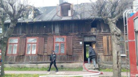Pożar domu na Garbarskiej