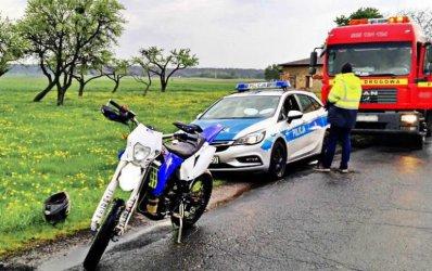 Uciekał przed policją na motocyklu