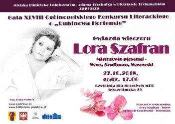 Lora Szafran zaśpiewa na