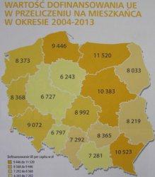 Fundusze europejskie w regionach w liczbach