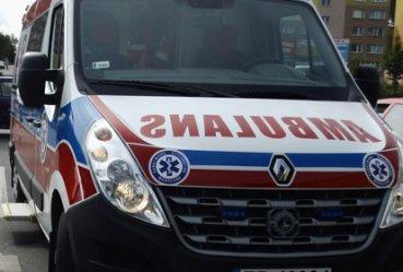 Potrącony motocyklista trafił do szpitala