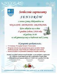 Seniorzy z Aleksandrowa będą świetować