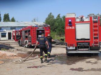 Pożar przy Przemysłowej