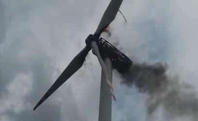 Pożar elektrowni wiatrowej