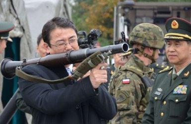 Delegacja chińskiej armii w Tomaszowie