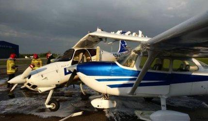 Incydent na lotnisku w Piotrkowie. Samolot do szkolenia pilotów zniszczony