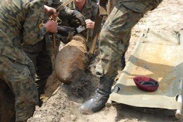 Gomunice: Odkopano 200-kilogramową bombę