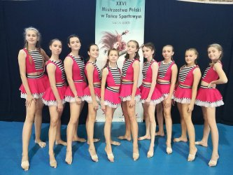 Piotrkowskie tancerki z tytułami Mistrzów i Wicemistrzów Polski