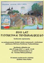 SP 12 podsumowuje obchody jubileuszu 800-lecia miasta