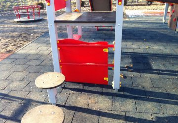 Plac zabaw przy ul. Budki zniszczony. Potrzebny monitoring?