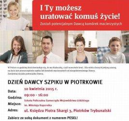 Dzień Dawcy Szpiku w Piotrkowie