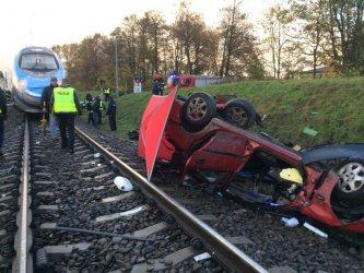 Na przejeździe kolejowym w Raciborowicach zginął 31-letni mężczyzna