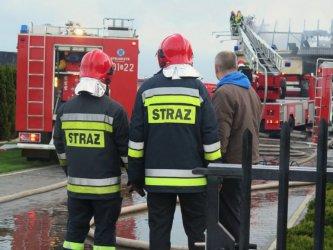 Pożar pustostanu w Kurnędzu