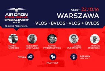 Wyjątkowe szkolenie uavo vlos / bvlos. Licencja na drona w Warszawie
