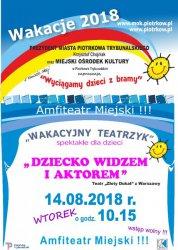 Zmiana godziny wakacyjnego teatrzyku w Piotrkowie