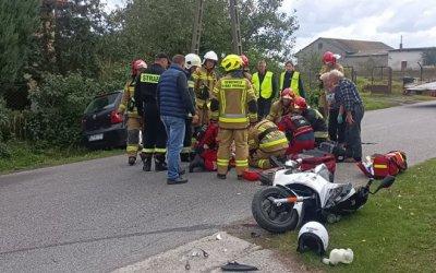Kolejny groźny wypadek kierowcy jednośladu. Znowu interweniowało LPR