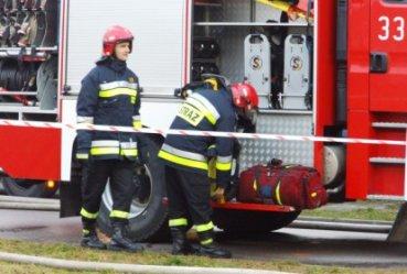 Pożar w Milejowie - siedem osób w szpitalu