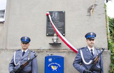 Odsłonili tablicę pamiątkową generała policji Henryka Wardęskiego