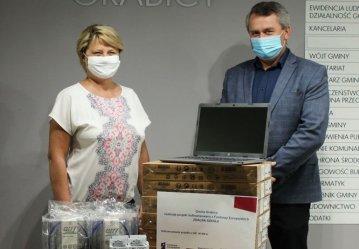 """Gmina Grabica wspiera uczniów. Projekt """"Zdalna szkoła"""""""