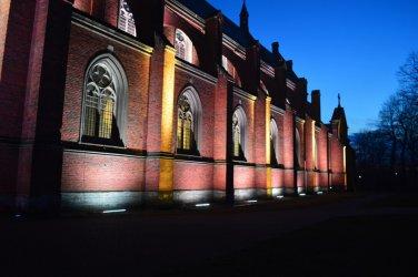 Kościół św. Floriana w Sulejowie z podświetleniem