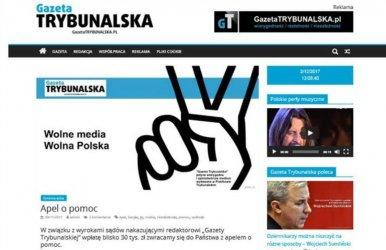 Wydawca Gazety Trybunalskiej skazany prawomocnym wyrokiem