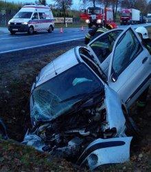 Trzy osoby ranne w wypadku w Kozeninie