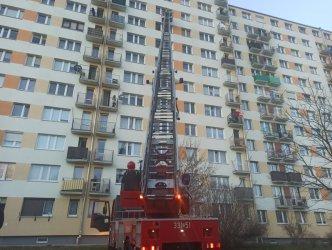 Widowiskowa akcja piotrkowskich strażaków