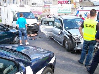 Groźny wypadek na Krakowskim Przedmieściu