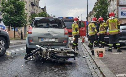 15-letni motorowerzysta spowodował wypadek