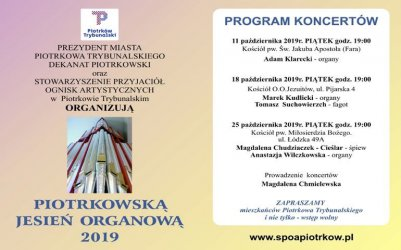 Rusza Piotrkowska Jesień Organowa 2019