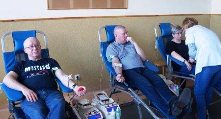 Zbierali krew dla Karola
