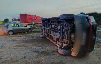 Kobieta ranna w wypadku na DK1