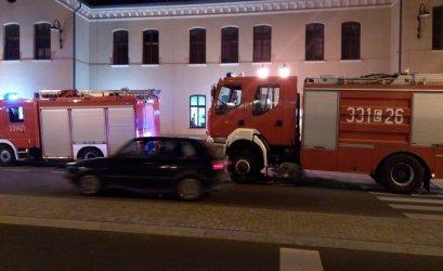 Alarm pożarowy na dworcu kolejowym