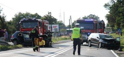 Dwa wypadki na DK 12 między Piotrkowem a Sulejowem