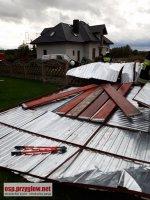 Uszkodzone budynki, powalone drzewa. Wiatr dał się nam we znaki
