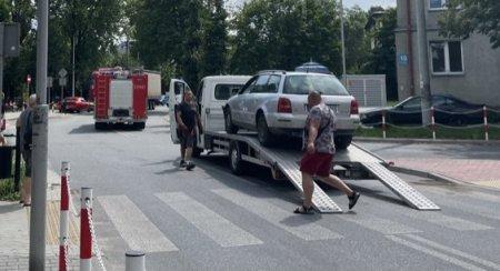 Zderzenie dwóch aut przy Piastowskiej
