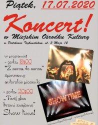 Pierwszy koncert na dziedzińcu MOK-u