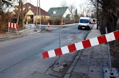 Ulica Partyzantów zamknięta