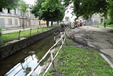 Problemy przy budowie mostu na Strawie