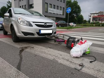 Piotrków: potrącenie rowerzystki na ul. Dzielnej