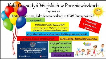Festyny i szczepienia w Parzniewicach, Parzniewiczkach i Piekarach
