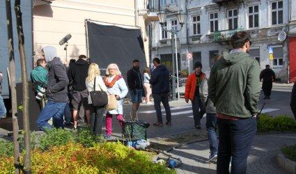 Na placu Czarnieckiego kręcą reklamę