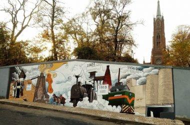 W Sulejowie mają mural poświęcony historii przemysłu wapienniczego