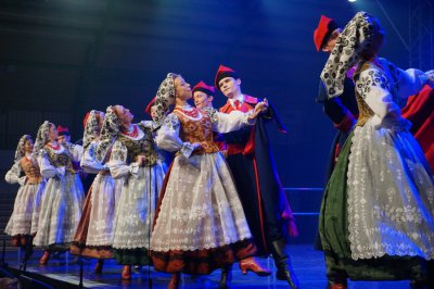 Zespół Mazowsze wystąpił w Wolborzu