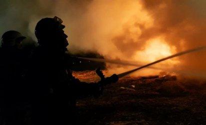 Pożar w gminie Gorzkowice. Strażacy przez 10 godzin walczyli z ogniem