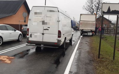 Kolizja trzech aut w Srocku