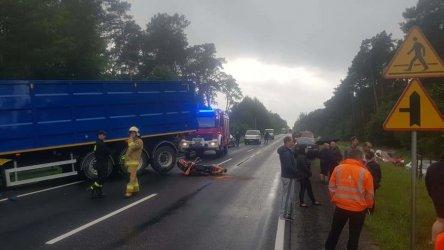 Wypadek w Sulejowie.