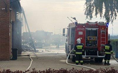 Pożar hali magazynowej w Gomulinie (GALERIA)