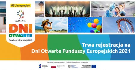Trwa rejestracja na Dni Otwarte Funduszy Europejskich 2021